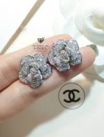 พร้อมส่ง ~ Chanel Earring จัดมาในดีไซด์ทรงดอกคามิลเลียสวยที่สุดแล้วในท้องตลาด
