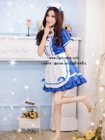 ชุดแฟนซีการ์ตูนญี่ปุ่นเมดสีฟ้าน่ารัก