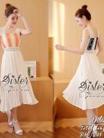 พร้อมส่ง ~ 2sister made, 2Sweet Color Elegant & Sexy Flora Dress