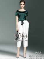 พร้อมส่ง ~ 2Sister Made, Green Comfortable Elegant Set Style SIster Jessica