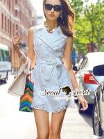 พร้อมส่ง ~ Seoul Secret Say's .... Nifty Flory Lace Dress Suit