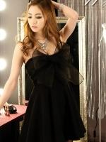 ชุดเดรสน่ารักเกาหลีสีดำ