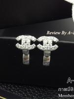 พร้อมส่ง ~ Chanel Earring รุ่นมินิ งานเพชร CZ แท้