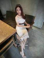 พร้อมส่ง ~ Sister made, White Pure Vintage Flora Korea Lace