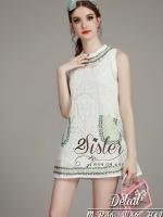 พร้อมส่ง ~ 2Sister Made, White Cuties Flora Korea Dress