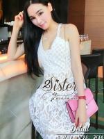 พร้อมส่ง ~ 2Sister Made, White Blend Flora Beauty Lace