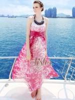 พร้อมส่ง ~ Summer Maxi Style with Beauty Necklace
