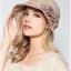 Pre-order หมวกผ้าลินินติดโบว์ดอกไม้แฟชั่นฤดูร้อน กันแดด กันแสงยูวี สวยหวาน สีเบจ thumbnail 2