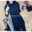 เสื้อเชิ๊ตแฟชั่น คอปกแขนยาว ตัดต่อชายลูกไม้ มีสายรูดปรับได้ กระดุมหน้าอก สีดำ thumbnail 4
