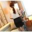 Pre-Order เสื้อแขนสั้น ผ้าลูกไม้ เสื้อผ้าแฟชั่นเกาหลี เสื้อผ้าทำงาน เสื้อผ้าออกงาน สีครีม thumbnail 6