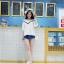 KTFNเสื้อแฟชั่นเกาหลี ลุคหวานๆ ตัดต่อลุกไม้ คอวีลูกไม้โครเชต์ สีขาว thumbnail 12