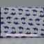 กระเป๋าเครื่องสำอางค์ นารายา ผ้าคอตตอน สีขาว ลายช้างแม่-ลูก สีน้ำเงิน มีกระจกในตัว Size L (กระเป๋านารายา กระเป๋าผ้า NaRaYa) thumbnail 4