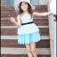 เสื้อผ้าเด็กสไตล์คุณหนู ชุดราตรีเด็ก ชุดออกงานเด็ก Phelfish สีฟ้า thumbnail 2
