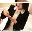 Pre order เสื้อสูทแฟชั่นเกาหลี ปกสูท แขนยาว แต่งด้วยผ้าต่างสีที่ปกและกระเป๋า สีดำ thumbnail 2