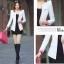 Pre-Order เสื้อสูททำงานแขนยาว เสื้อสูทผู้หญิง สูทลำลอง สีขาว แฟชั่นชุดทำงานสไตล์เกาหลีปี 2014 thumbnail 3