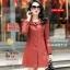(Pre-order) เสื้อแจ็คเก็ตหนังแท้ เสื้อโค๊ตยาว หนังแกะ แฟชั่นเกาหลี สีชมพู thumbnail 2
