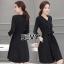 Sevy V-Neck Classy Black Ribbon Waist Dress Type: Dress Fabric: Spandex เนื้อผ้าเกรดดี เนื้อผ้ายืดหยุ่นได้ เนื้อผ้ามีน้ำหนักค่อนข้างมาก Detail : Dress ลุคเรียบหรู คอวี แขนยาว ชายแขนเสื้อผ่าขึ้นเล็กน้อย กระดุมผ่าหน้าใส่ง่าย มาพร้อมเชือกผ้าผูกเอว ใส่ออกมาแล thumbnail 8