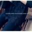 เสื้อเชิ๊ตแฟชั่น คอปกแขนยาว ตัดต่อชายลูกไม้ มีสายรูดปรับได้ กระดุมหน้าอก สีดำ thumbnail 7