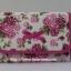กระเป๋าเครื่องสำอางค์ นารายา ผ้าคอตตอน พื้นสีขาว ลายดอกกุหลาบ สีชมพู มีกระจกในตัว Size L (กระเป๋านารายา กระเป๋าผ้า NaRaYa) thumbnail 2