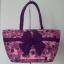 กระเป๋าสะพาย นารายา Size L ผ้าคอตตอน สีชมพู ลายดอกไม้ ผูกโบว์ สายหิ้ว หูเกลียว (กระเป๋านารายา กระเป๋าผ้า NaRaYa กระเป๋าแฟชั่น) thumbnail 2