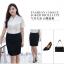 (Pre-order) เสื้อเชิ้ตทำงาน เสื้อเชิ้ตผู้หญิงแขนสั้น สีขาว ไซส์ใหญ่ thumbnail 5