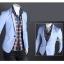 Pre-Order เสื้อสูท สูทลำลอง สูทบาง สูทเบลเซอร์ลำลอง แขนยาว ผ้าฝ้ายผสม สีฟ้า thumbnail 5