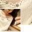 KTFN เสื้อลูกไม้ทั้งตัว เนื้อนิ่ม ยืดหยุ่น แต่งคริสตัลหน้าอก แขนยาว thumbnail 5