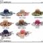 Pre-order หมวกปีกกว้างแฟชั่นฤดูร้อน กันแดด กันแสงยูวี สวยหวานเรียบหรู ดูดี สีครีมดอกแดง thumbnail 3