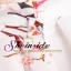 Pre-Order กระโปรงจีบรอบตัวสไตล์วินเทจ เอวสูง สีขาวพิมพ์ลายดอกไม้สีชมพูหวาน ๆ ความยาวแค่เข่า thumbnail 2