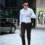 (Pre-Order) กางเกงทำงานผู้ชาย กางเกงขายาว กางเกงธุรกิจ ผ้าโพลีเอสเตอร์ สีดำ แฟชั่นกางเกงทำงานใหม่ แบบเรียบ ไม่จับจีบ thumbnail 2