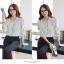 (Pre-Order) เสื้อชีฟองแขนยาว เสื้อทำงานแขนยาว ลายขาว-ดำ แฟชั่นเสื้อมาใหม่ปี 2014 thumbnail 9