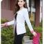 Pre-Order เสื้อสูททำงานแขนยาว เสื้อสูทผู้หญิง สูทลำลอง สีขาว แฟชั่นชุดทำงานสไตล์เกาหลีปี 2014 thumbnail 4