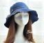 Pre-order หมวกยีนส์ปีกกว้างผูกโบว์เชือก แฟชั่นฤดูร้อน กันแดด กันแสงยูวี สีบลูยีนส์ thumbnail 1