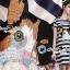 Seoul Secret Say's .... Catty Cat Stripe Chic Dress Material : เดรสเก๋ๆ ใส่ง่ายๆ สไตล์คุณหนูๆ เก๋ๆ ด้วยงานพิมพ์ลายริ้ว เติมความน่ารักด้วยงานปักลายแมว มีดีเทลเก๋ๆ ด้วยงานแต่งด้วยลายริ้วสลับเป็นชั้นLayer thumbnail 3