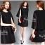 Elegant Black Lace Shawl Korea Dress เดรสสวยสง่าสไตล์งานแบรนด์ หรูหราด้วยทรงเดรสแขนกุด ตกแต่งผ้าลูกไม้เนื้อดีคลุมไหล่และช่วงอกของเดรส ผ่าช่วงแขนให้ดูมีดีเทลสวยสง่า กระโปรงทรงปล่อย งานสวยตามแบบ ใช้เนื้อผ้าอย่างดีในการตัดเย็บ บอกเลยงานนี้พลาดไม่ได้เลยค่ะ เน thumbnail 9