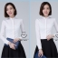 Pre-order เสื้อผ้าแฟชั่นเกาหลีปี 2017 เสื้อเชิ้ตทำงาน เสื้อผ้าทำงาน แขนยาว กระดุมหน้า ผ้าฝ้ายผสม มี 6 สี ดำ ขาว ชมพู ฟ้า แดง กรมท่า thumbnail 15