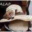 [พร้อมส่ง] หมวกปีกกว้าง ประดับดอกไม้ผ้าวินเทจ : Brown Vintage Flower thumbnail 1