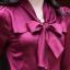 (พรีออเดอร์) เสื้อทำงาน ผูกโบว์ที่คอเสื้อ แขนยาว ผ้าซาติน สีไวน์แดง thumbnail 7