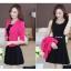 ชุดเดรสกระโปรงบานสีดำ+เสื้อสูท สีชมพูบานเย็น (ขายแยกชิ้น) thumbnail 1