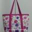 กระเป๋าสะพาย นารายา ผ้าคอตตอน พื้นสีขาว ลายดอกไม้ หลากสี มีช่อง ใส่โทรศัพท์ ด้านหน้า (กระเป๋านารายา กระเป๋าผ้า NaRaYa กระเป๋าแฟชั่น) thumbnail 6