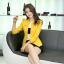Pre-Order เสื้อสูททำงานแขนยาว เสื้อสูทผู้หญิง สูทลำลอง สีเหลือง แฟชั่นชุดทำงานสไตล์เกาหลีปี 2014 thumbnail 3