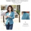 (Pre-order) เสื้อสูทแฟชั่น เสื้อสูทผู้หญิง แขนสามส่วน ผ้าลินินผสม สีฟ้า thumbnail 7
