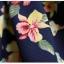 ลดล้างสต็อก กระโปรงพลีท จีบใหญ่ ผ้าใยกัญชาพิมพ์ลาย Red flower แฟชั่นเรโทรย้อนยุค สไตล์เกาหลี thumbnail 7