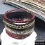 พร้อมส่ง ~ Swarovski Bracelet ข้อมือหนังกลับงานชวารอฟสกี้ รุ่นนี้แนะนำเลยคะ thumbnail 1