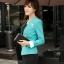 เสื้อสูทผู้หญิง สูทบาง ฝีมือตัดเย็บระดับ High -end นำเข้าจากประเทศเกาหลีแท้ แขนยาว สีน้ำดำ thumbnail 4