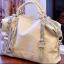 (Pre-order) กระเป๋าหนังแท้ กระเป๋าสะพายผู้หญิง หนังแท้ปั้มลายหนังงู แบบคลาสสิค สไตล์ยุโรป อเมริกา สีเบจ thumbnail 3