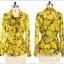 Pre-Order เสื้อผ้าแฟชั่นผู้หญิง คอผูก แขนยาว พิมพ์ลายมะนาว ผ้าชีฟองเนื้อดี สีเหลือง thumbnail 4