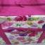 กระเป๋าเดินทาง นารายา Size L ทรงสี่เหลี่ยม ผ้าคอตตอน พื้นสีขาว ลายดอกไม้ หลากสี (กระเป๋านารายา กระเป๋า NaRaYa กระเป๋าผ้า) thumbnail 5