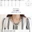Pre-Order เสื้อชีฟอง คอกลม แขนยาว ผ้าพิมพ์ลายทาง เสื้อผ้าแฟชั่นสไตล์เรโทร วินเทจ thumbnail 3