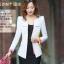 Pre-Order เสื้อสูททำงานแขนยาว เสื้อสูทผู้หญิง สูทลำลอง สีขาว แฟชั่นชุดทำงานสไตล์เกาหลีปี 2014 thumbnail 1